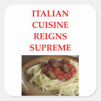 italian square sticker