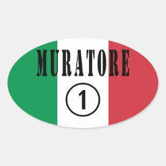 Italian Stonemasons : Muratore Numero Uno Oval Sticker