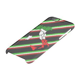 Italian stripes flag clear iPhone 6/6S case