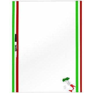 Italian stripes flag dry erase board