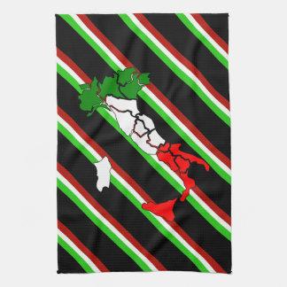 Italian stripes flag kitchen towel