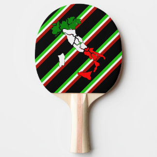 Italian stripes flag ping pong paddle