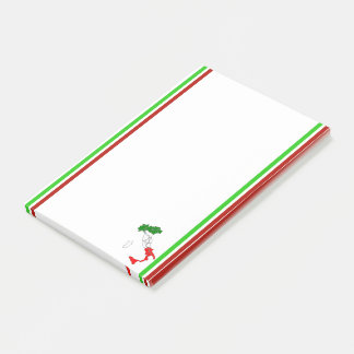 Italian stripes flag post-it notes