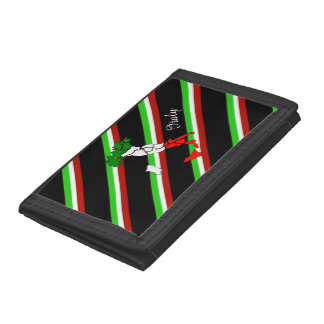 Italian stripes flag trifold wallet