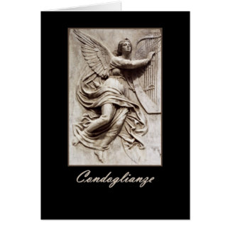 Italian Sympathy - Condoglianze - Angel with Harp Card
