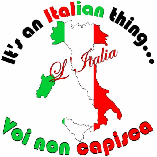 Italian Thing Cut Outs