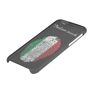 Italian touch fingerprint flag clear iPhone 6/6S case