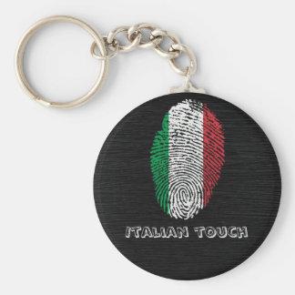 Italian touch fingerprint flag keychain