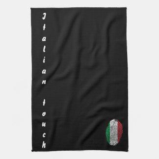 Italian touch fingerprint flag kitchen towel