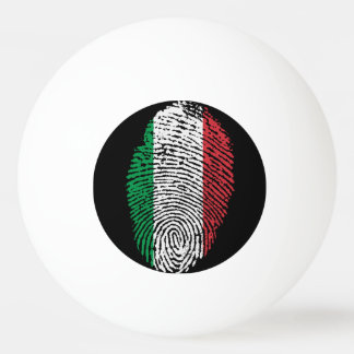 Italian touch fingerprint flag ping pong ball
