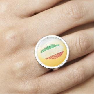 Italian touch fingerprint flag ring