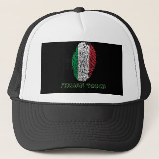 Italian touch fingerprint flag trucker hat