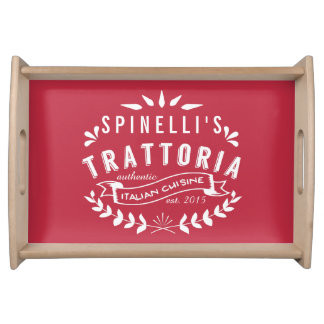 Italian Trattoria Personalized Vintage Restaurant Serving Tray
