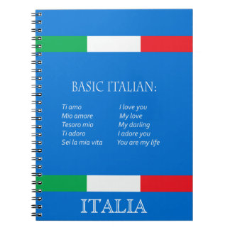Italian travel notebook basic italian language