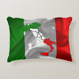 Italian Tricolor boot Accent Pillow