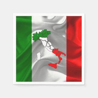 Italian Tricolor Paper Napkin