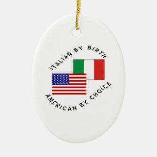 Italian USA Choice Ceramic Ornament