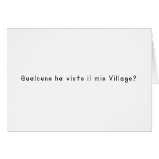 Italian-Village Card