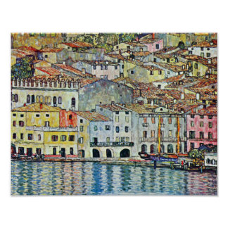 Italian Village Malcena at the Gardasee by Klimt Poster