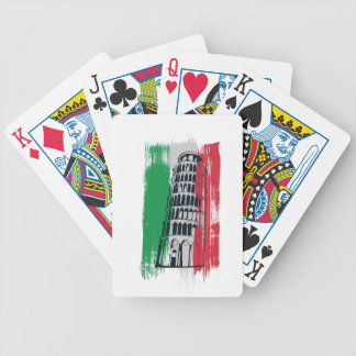 italian vintage statue bicycle playing cards