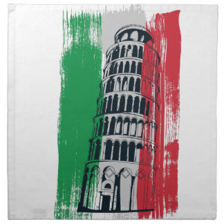 italian vintage statue napkin