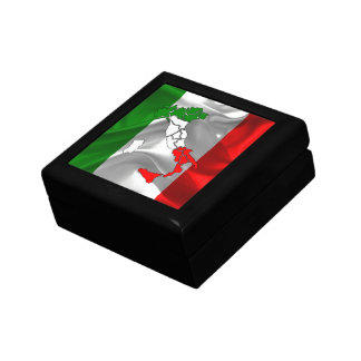 Italian waving flag jewelry box