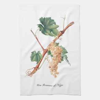 Italian White Grapes Kitchen Towel