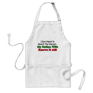Italian Wife Knows It All funny apron