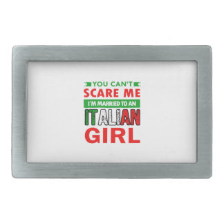Italian Wife Wife Rectangular Belt Buckle