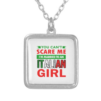 Italian Wife Wife Silver Plated Necklace