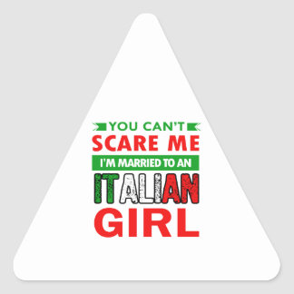 Italian Wife Wife Triangle Sticker
