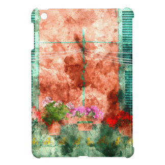 Italian Window With Open Wooden Shutters Cover For The iPad Mini