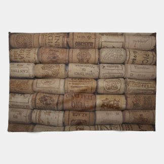 Italian Wine Cork Collection Bar Towel