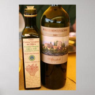Italian Wine & Olive Oil Poster