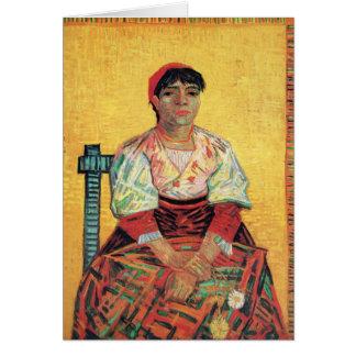 Italian Woman portrait painting  Vincent van Gogh Note Card