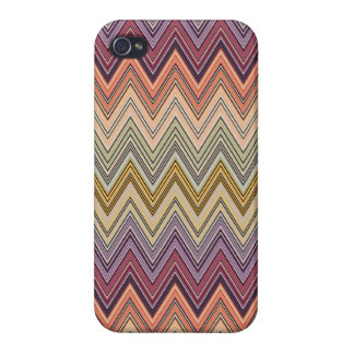 Italian Zig Zag Orange Green Purple Pattern Savvy iPhone 4/4S Case