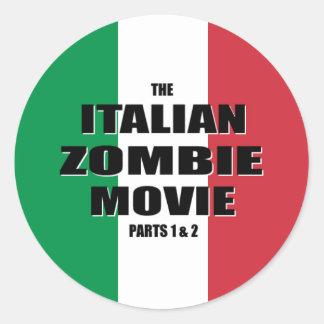 Italian Zombie Movie - Round Stickers