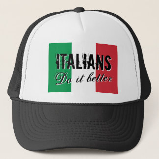 Italians do it better vintage flag trucker hat