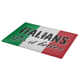 Italians do it better vintage glass cutting board