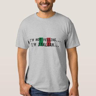italien-drapeau, je NE HURLE PAS…, je suis Tee Shirts