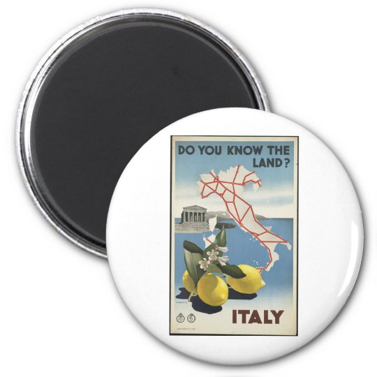 Italy 2 Inch Round Magnet