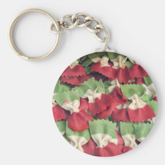 Italy 3 Colored Pasta Basic Round Button Keychain