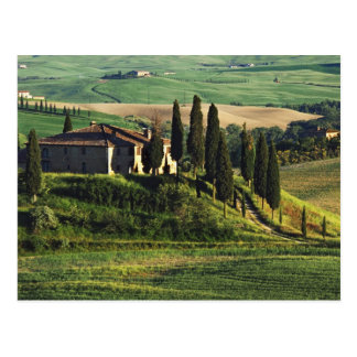 Italy. A pastoral Tuscany villa in Val d'Orcia. Post Card