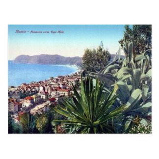 Italy,  Alassio, Cactus on the hillside Postcard