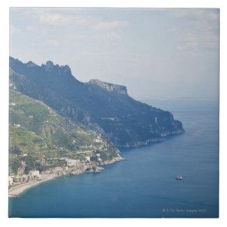 Italy, Amalfi Coast, High angle view on town at Tiles