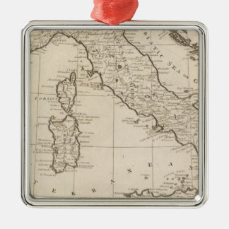 Italy, and Sardinia Metal Ornament