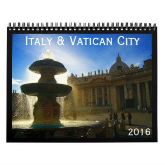 italy and vatican 2016 wall calendars