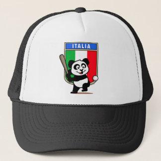 Italy Baseball Panda Trucker Hat