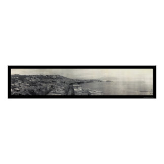 Italy Bay of Naples Photo 1909 Poster