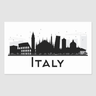 Italy Black and White Skyline Sticker